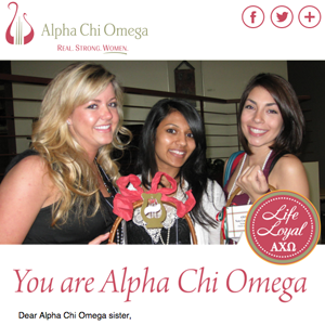 We are Alpha Chi Omega