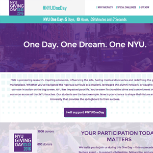 NYU One Day website