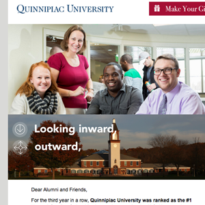 Image of Quinnipiac University email