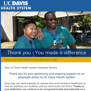 UC Davis Health System Employee Giving