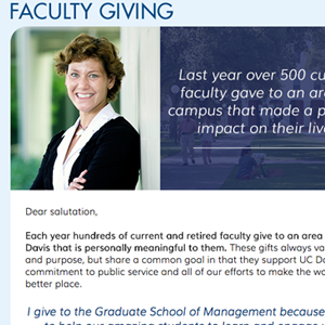 UC Davis- Faculty and Staff campaign