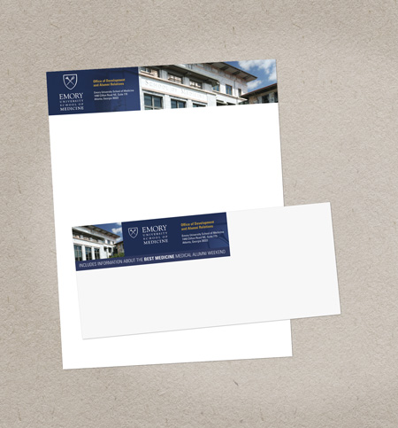 Letterhead designed by MainSpring for Emory University School of Medicine