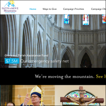 Thumbnail image of the Faith to Move Mountains campaign site that MainSpring created for the Diocese of Trenton
