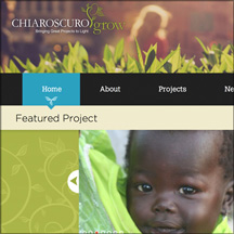 Thumbnail image of the Chiaroscuro Grow website that MainSpring created for the Chiaroscuro Foundation