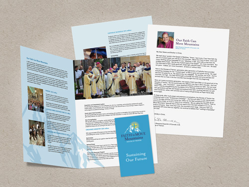Print material with Diocese of Trenton campaign logo created by MainSpring